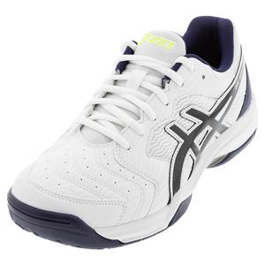 Men`s GEL-Dedicate 6 Tennis Shoes White and Peacoat