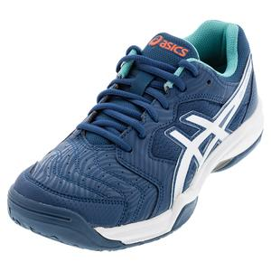 Men`s GEL-Dedicate 6 Tennis Shoes Mako Blue and White