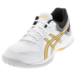 Men`s GEL-Rocket 9 Squash Shoes White and Pure Gold