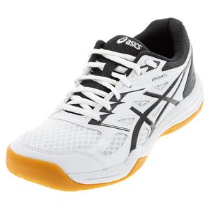 Women`s Upcourt 4 Indoor Sport Tennis Shoes White and Black