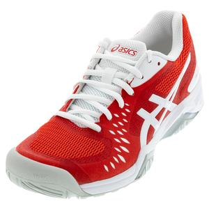 Women`s GEL-Challenger 12 Tennis Shoes Fiery Red and White