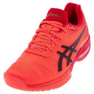 Men`s Solution Speed FF Tokyo Tennis Shoes Sunrise Red and Eclipse Black