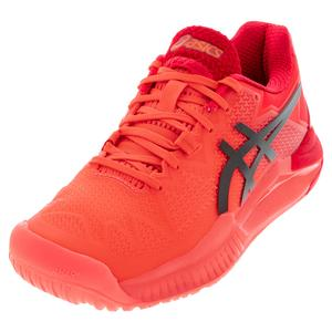 Women`s GEL-Resolution 8 Tokyo Tennis Shoes Sunrise Red and Eclipse Black