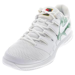 Juniors` Court Vapor X Tennis Shoes White and Clover