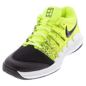 Juniors` Court Vapor X Tennis Shoes Volt and Black