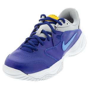 Juniors` Court Lite 2 Tennis Shoes Deep Royal Blue and Coast