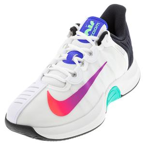 Men`s Court Air Zoom GP Turbo Tennis Shoes Summit White and Black