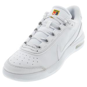 Juniors` Court Air Max Vapor Wing Premium Tennis Shoes White and Binary Blue