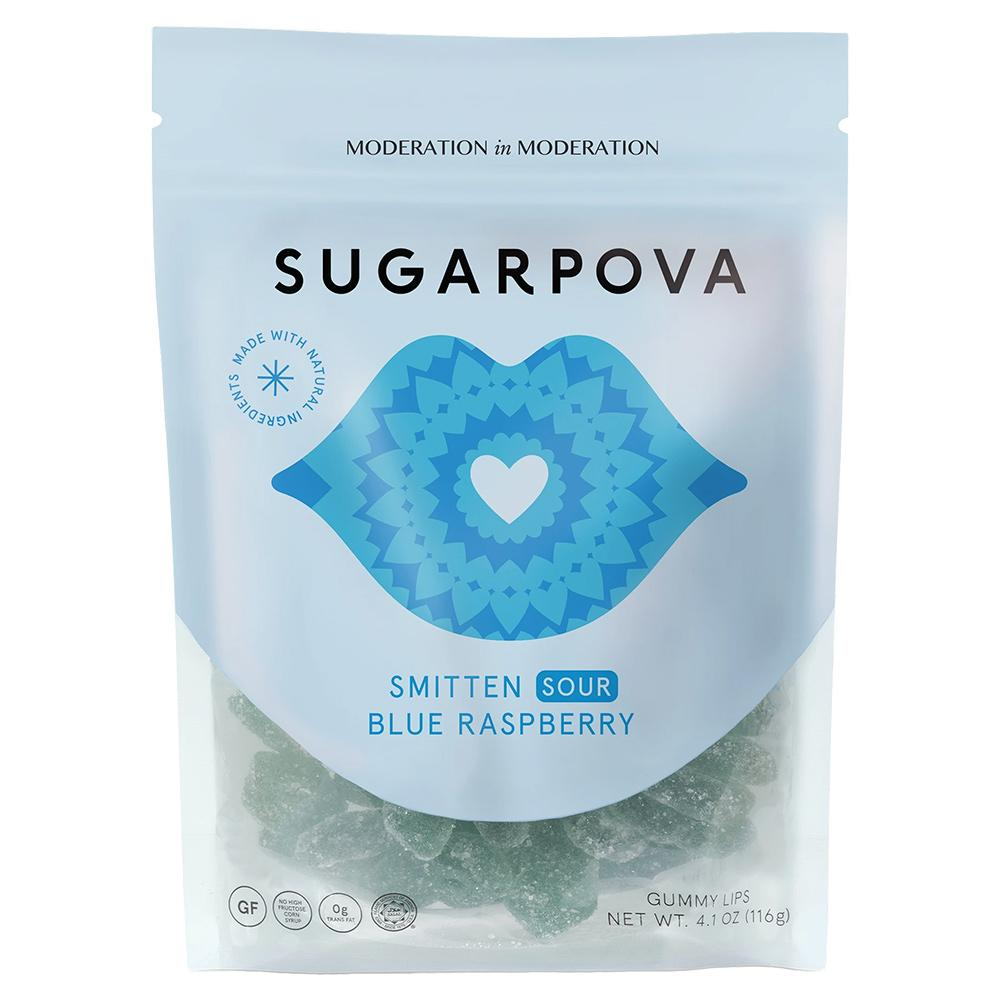 Smitten Sour All Natural Blue Raspberry Gummy Lips