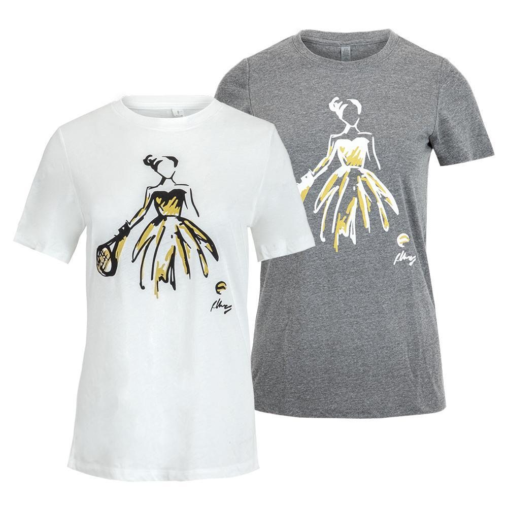 Womens Tennis Ballerina Tennis T- Shirt