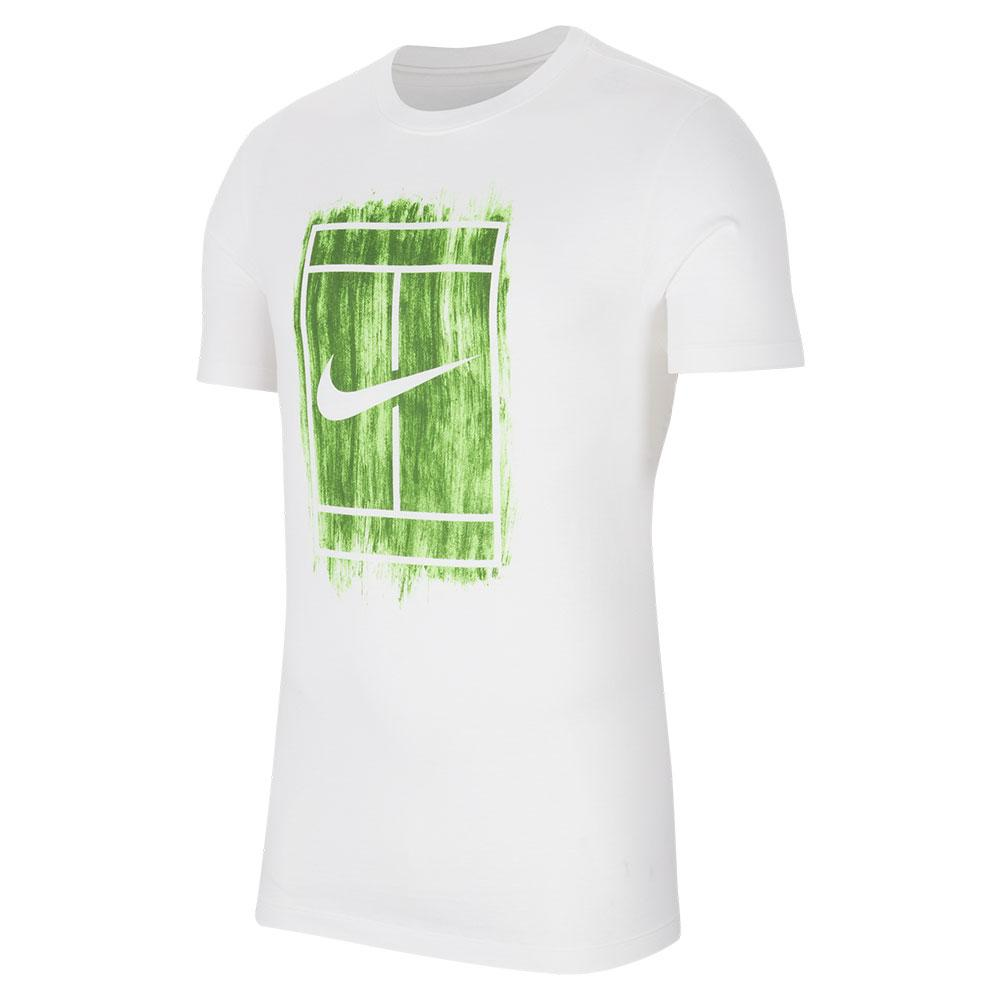 Men's Court Graphics Tennis Tee White