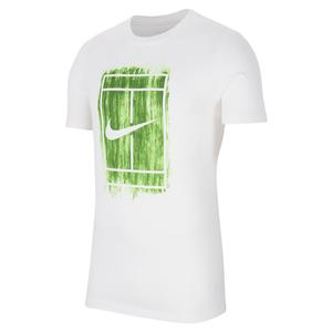 Men`s Court Graphics Tennis Tee White