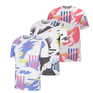 Men`s Court Challenge All Over Print Tennis Tee