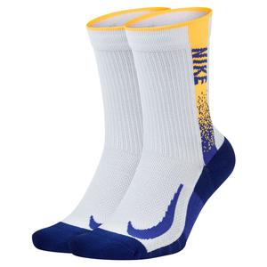 Court Multiplier Max Graphic Tennis Crew Socks (2 Pairs)