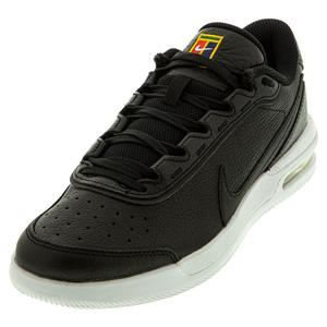 Men`s Court Air Max Vapor Wing Premium Tennis Shoes Black and White