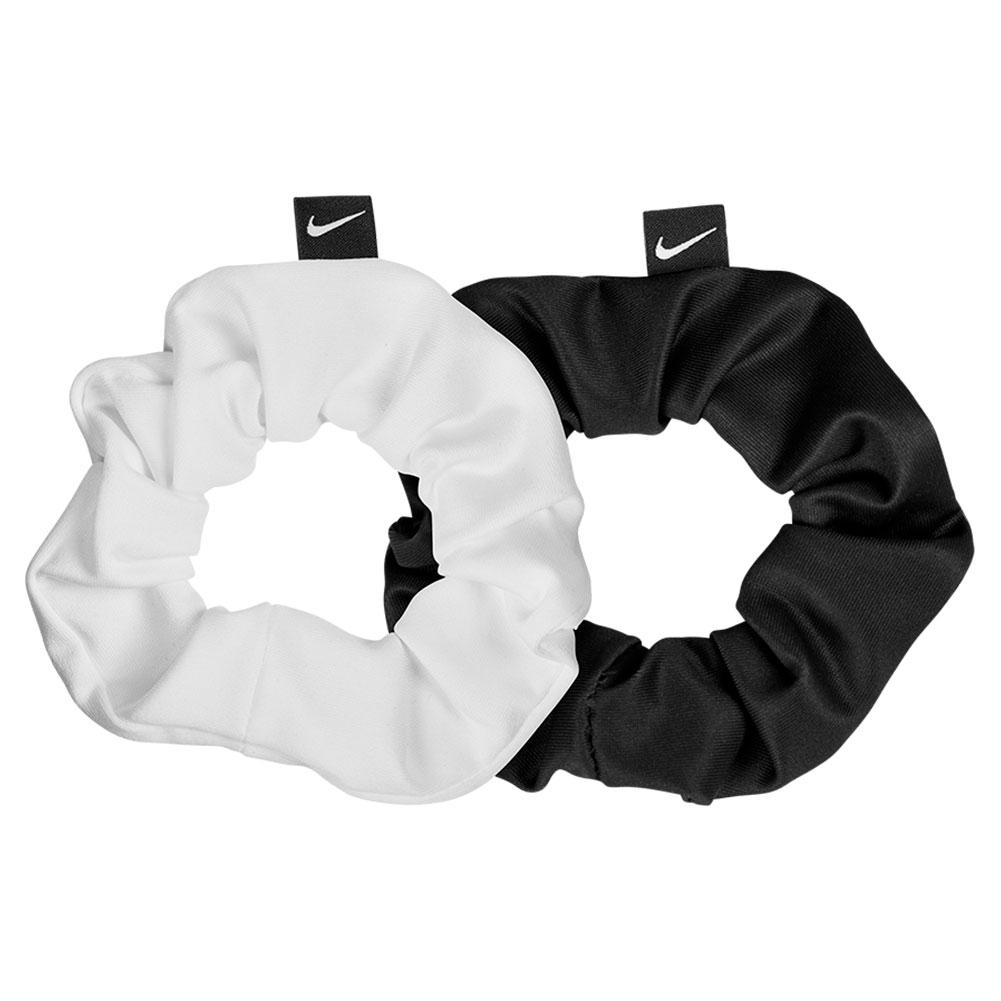 Women's Gathered Hair Ties Black And White (2 Pack)