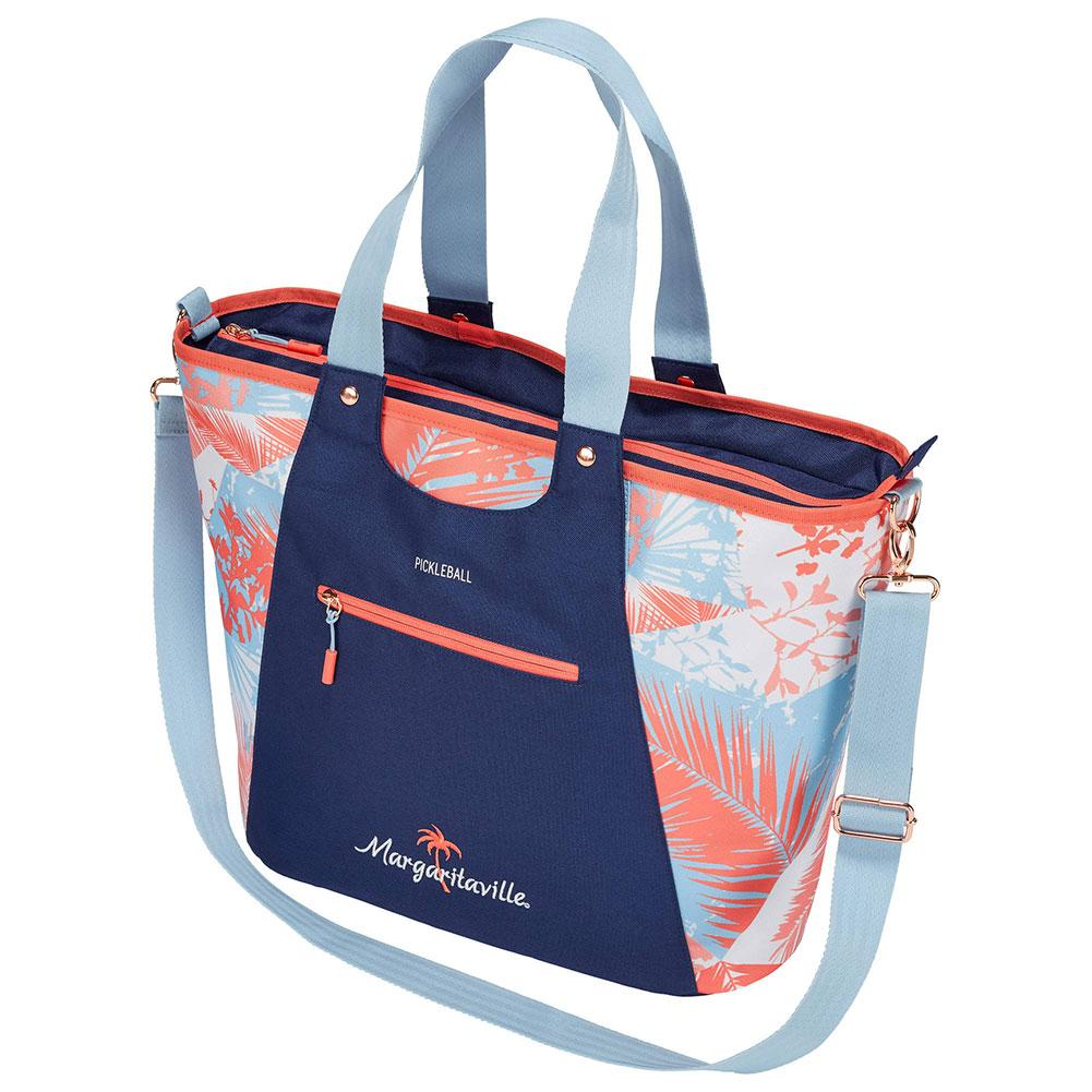 Margaritaville Pickleball Tote Bag Blue And Coral