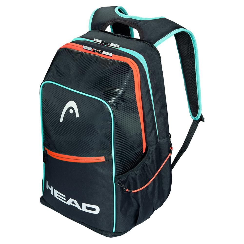 Tour Pickleball Backpack Black And Teal