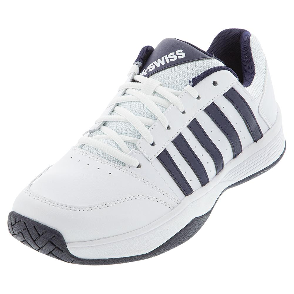 Men's Court Smash 2 Tennis Shoes White And Navy