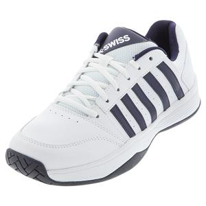 Men`s Court Smash 2 Tennis Shoes White and Navy
