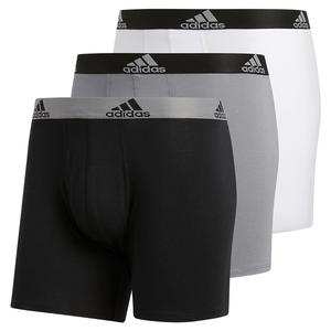 Men`s Stretch Cotton Boxer Brief 3-Pack Black and Grey