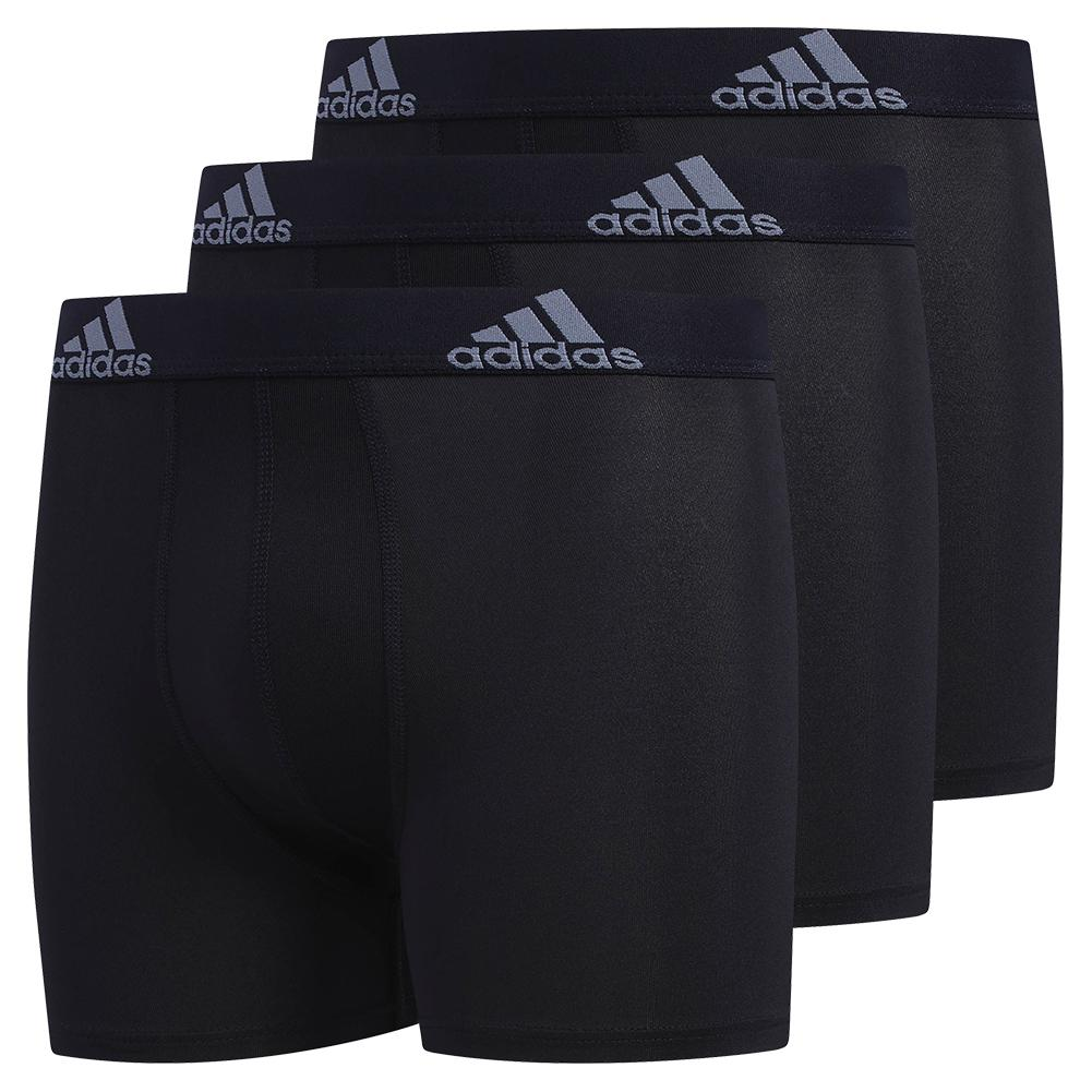 Youth Performance Boxer Brief 3- Pack Black And Grey
