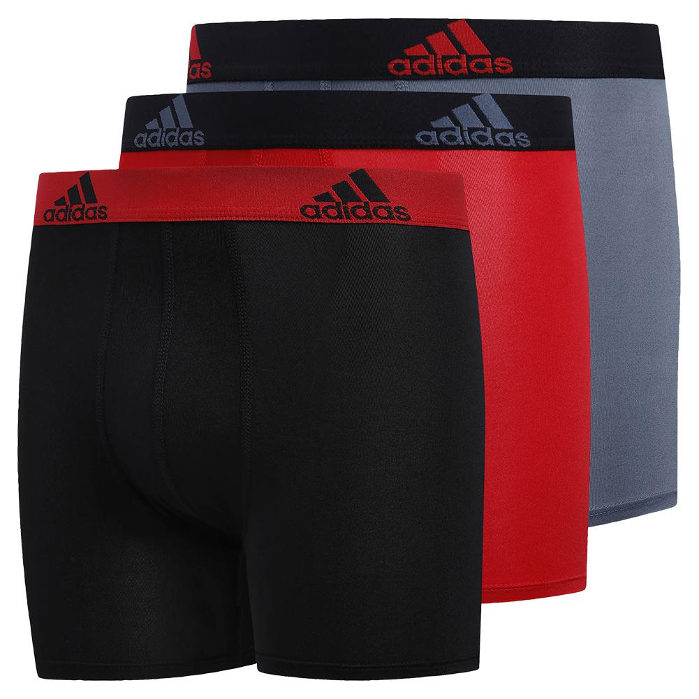 Youth Performance Boxer Brief 3- Pack Black And Scarlet