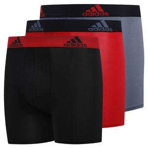 Youth Performance Boxer Brief 3-Pack Black and Scarlet