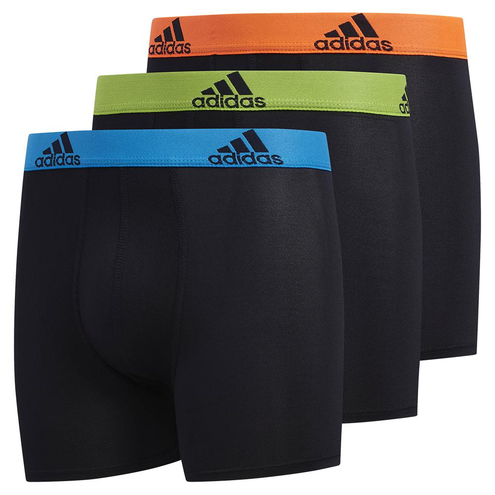 Youth Performance Boxer Brief 3- Pack Black And Solar Blue