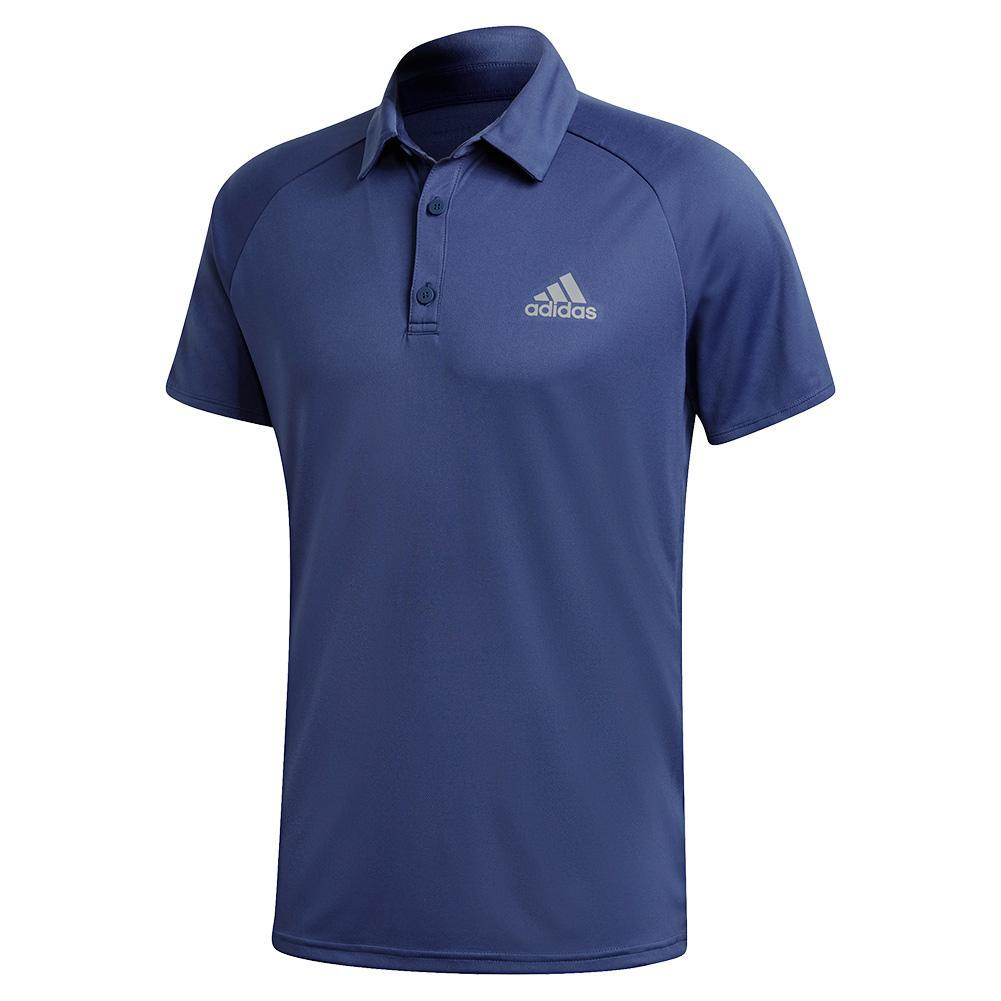 Men's Club Color Block Tennis Polo Tech Indigo