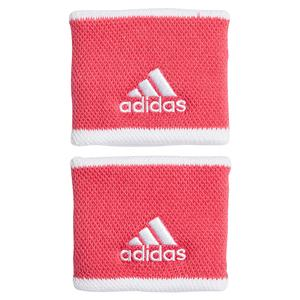 Small Tennis Wristbands Power Pink and White