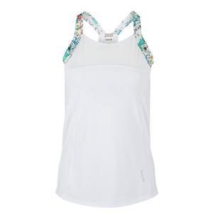 Women`s Magnolia Racerback Tennis Tank White