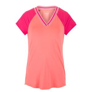 Women`s V-Neck Rib Tennis Top