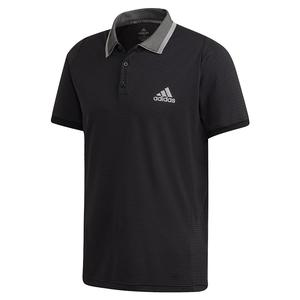 Men`s Freelift Tennis Polo Black and Grey Three
