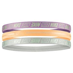 Girls` Metallic Headbands 3 Pack 2.0 Violet Star and Orange Chalk