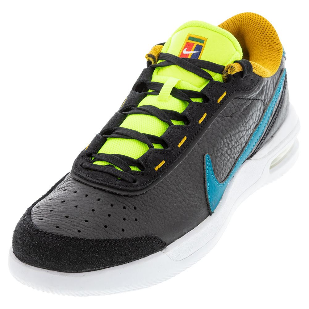 Men's Court Air Max Vapor Wing Premium Tennis Shoes Black And Blustery