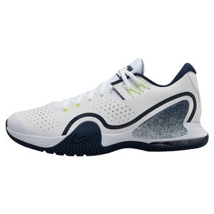 Men`s Court Tech Challenge 20 Tennis Shoes White and College Navy