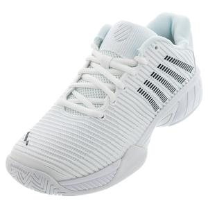 Juniors` Hypercourt Express 2 Tennis Shoes White and Black