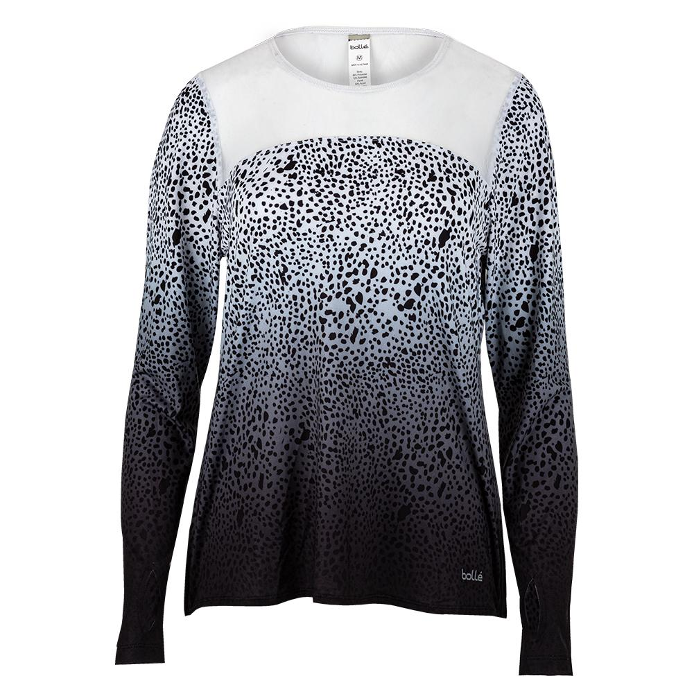 Women's Serengeti Long Sleeve Tennis Top Print And White