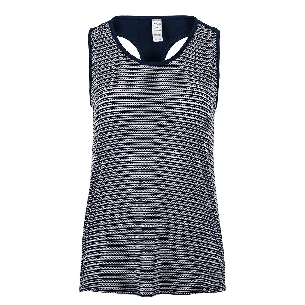 Women's High Society Racerback Tennis Tank Navy Print