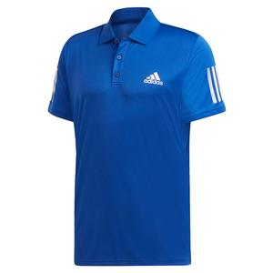 Men`s Club 3 Stripes Tennis Polo Team Royal Blue