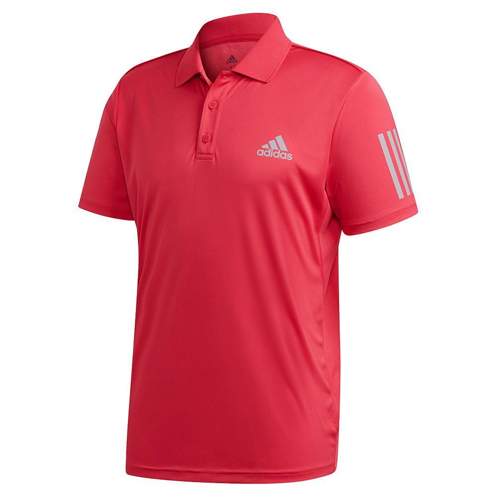 Men's Club 3 Stripes Tennis Polo Power Pink