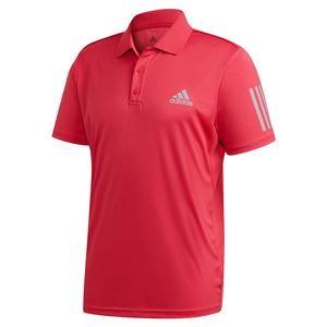 Men`s Club 3 Stripes Tennis Polo Power Pink