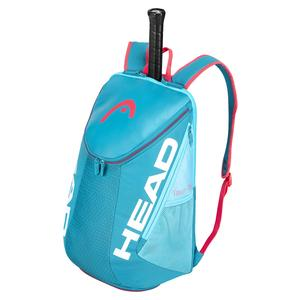 Tour Team Tennis Backpack Blue and Pink