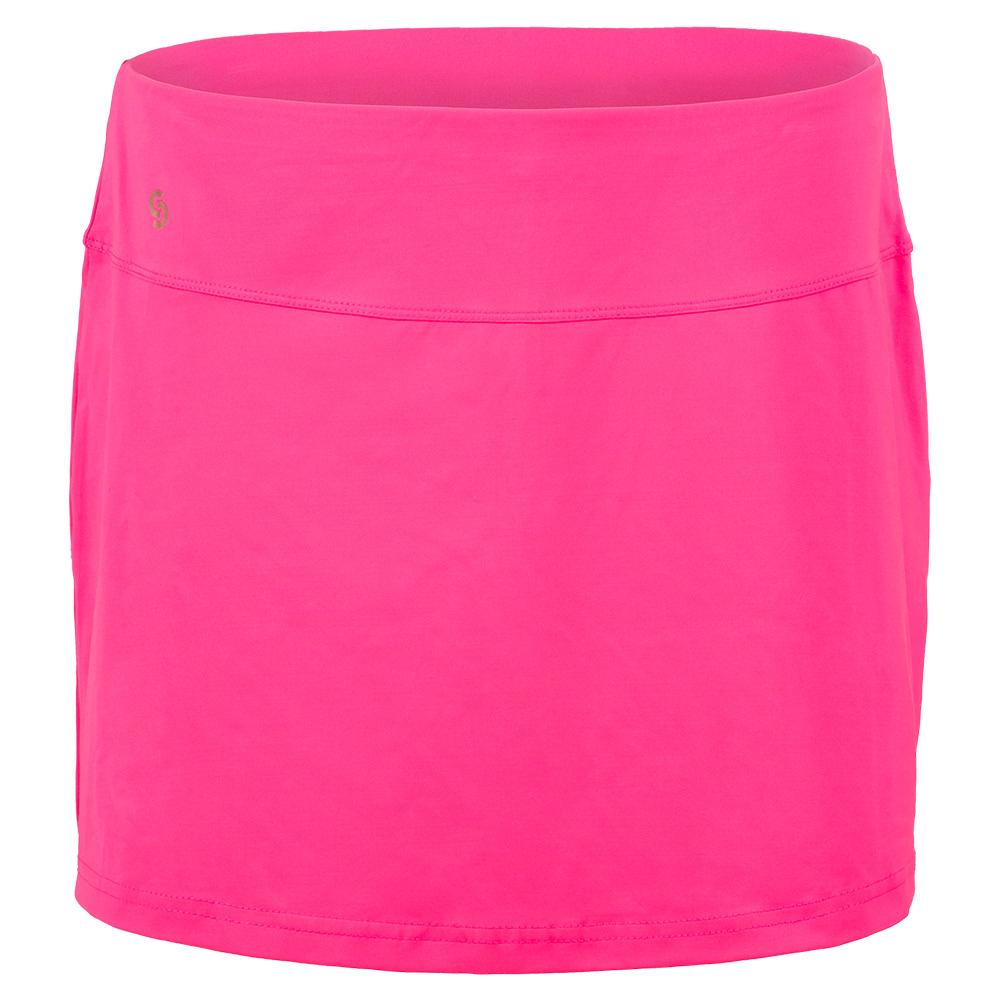 Women's Neon Lace Tennis Skort Knockout Pink