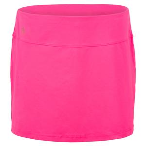 Women`s Neon Lace Tennis Skort Knockout Pink
