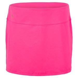 Women`s Neon Lace Tennis Skort Knockout Pink