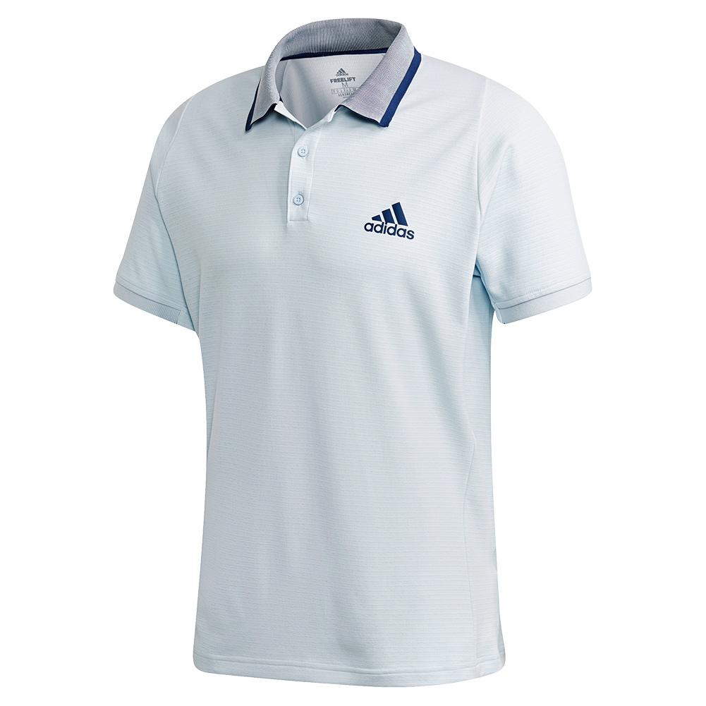 Men's Freelift Tennis Polo Sky Tint And Tech Indigo