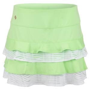 Women`s Lime Light Tennis Skort Melon and White