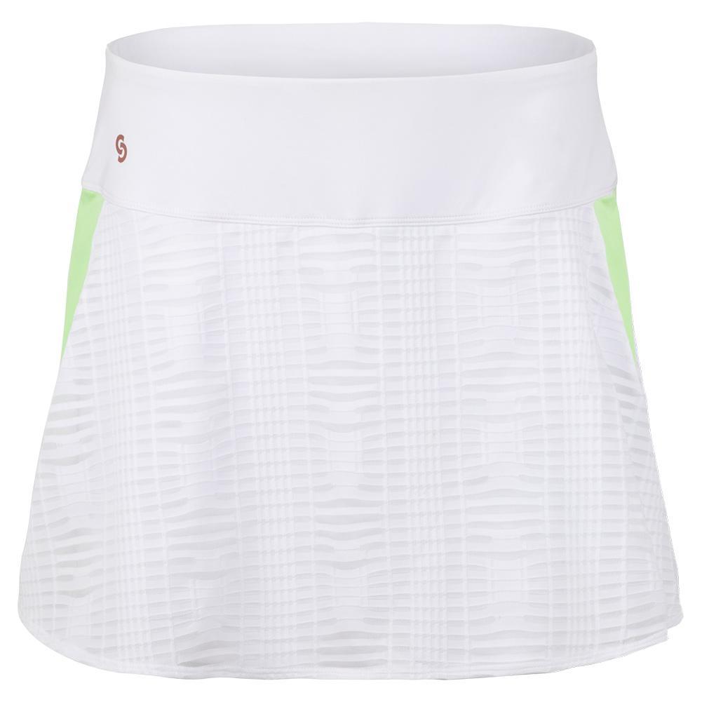 Women's Lime Light Tennis Skort White And Melon